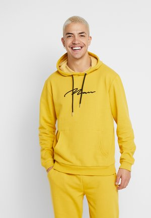MAN EMBROIDERY HOODED TRACKSUIT - Hoodie - lemon curry