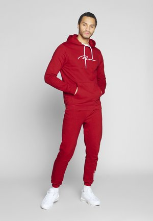 MAN EMBROIDERY HOODED TRACKSUIT - Huppari - red