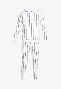 boohoo MAN - STRIPE TRACKSUIT - Bluza z kapturem - white - 7