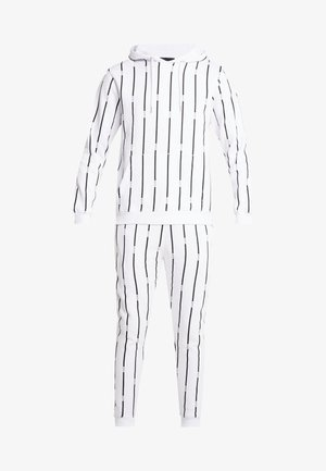 STRIPE TRACKSUIT - Jersey con capucha - white