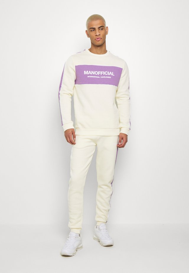 MAN OFFICIAL COLOUR BLOCK TRACKSUIT - Tuta - light yellow/purple