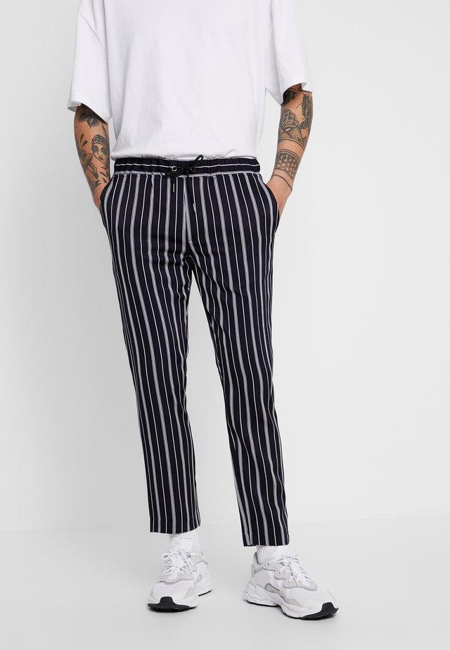 STRIPE SMART JOGGERS - Pantaloni sportivi - blue