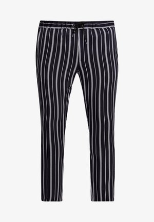 STRIPE SMART JOGGERS - Tracksuit bottoms - blue
