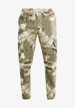 BLURRED CAMO TROUSERS WITH ELASTICATED WAIST - Pantalon de survêtement - green