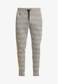 boohoo MAN - CHECKED SMART WITH TAPE DETAIL - Pantaloni sportivi - grey - 3