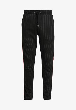 STRIPE TRACKSUIT JOGGERS - Pantaloni sportivi - black