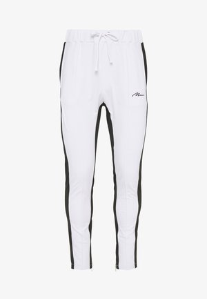 TRICOT SKINNY WITH SIDE PANEL - Teplákové kalhoty - white