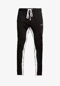 boohoo MAN - TRICOT WITH SIDE PANEL - Trainingsbroek - black