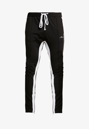 TRICOT SKINNY WITH SIDE PANEL - Tracksuit bottoms - black