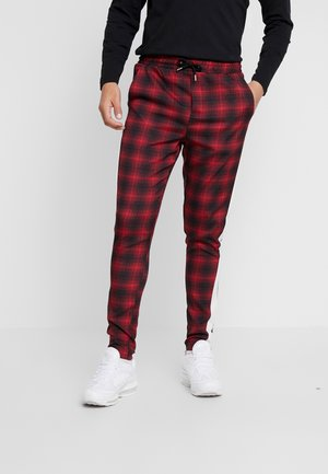 SUPER SKINNY SMART JOGGER WITH TAPING - Spodnie treningowe - red