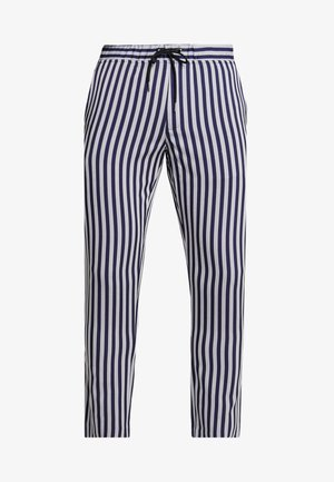 HERRINGBONE STRIPE SMART CROPPED TROUSER - Broek - navy