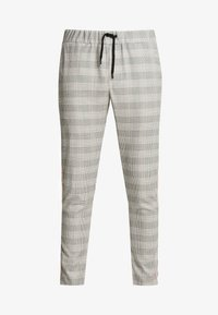 boohoo MAN - CHECK TAPE DETAIL SMART  - Trousers - grey - 3