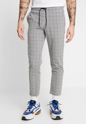 CHECK SMART CROPPED TROUSER - Trousers - navy