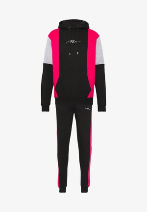 SIGNATURE COLOUR BLOCK HOODED TRACKSUIT SET - Tracksuit - pink