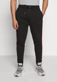 boohoo MAN - MAN SIGNATURE SKINNY FIT - Teplákové kalhoty - black - 0