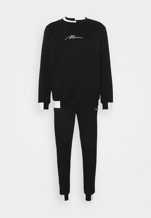 MAN SIGNATURE BLOCK TRACKSUIT - Mikina - black