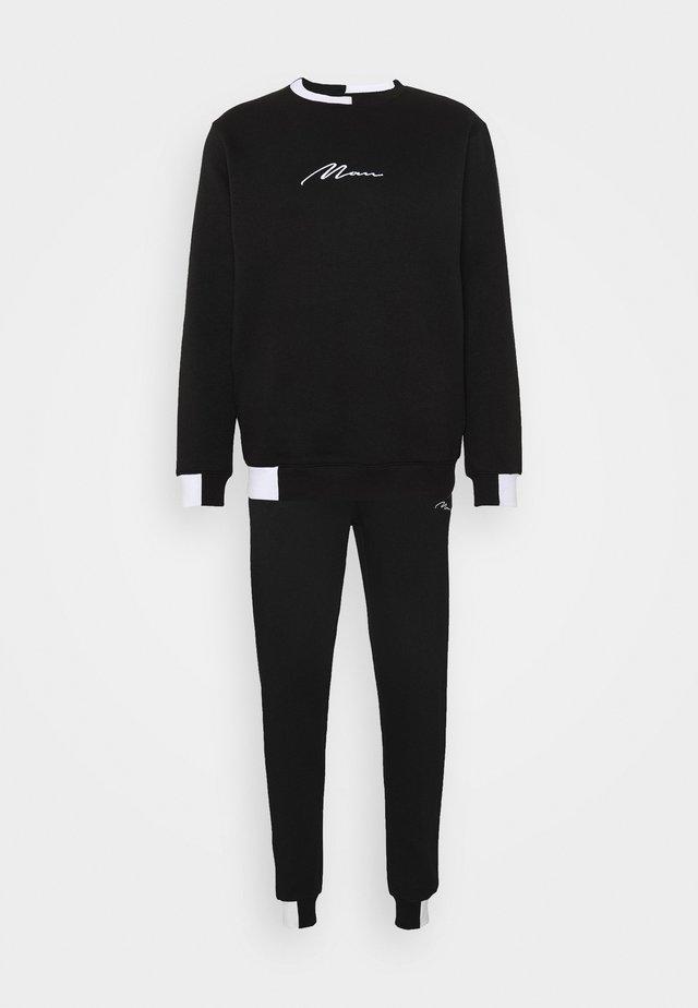 MAN SIGNATURE BLOCK TRACKSUIT - Sweater - black
