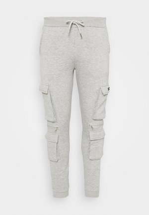 OFFICIAL MAN CARGO JOGGER WITH ZIP DETAIL - Teplákové kalhoty - grey marl