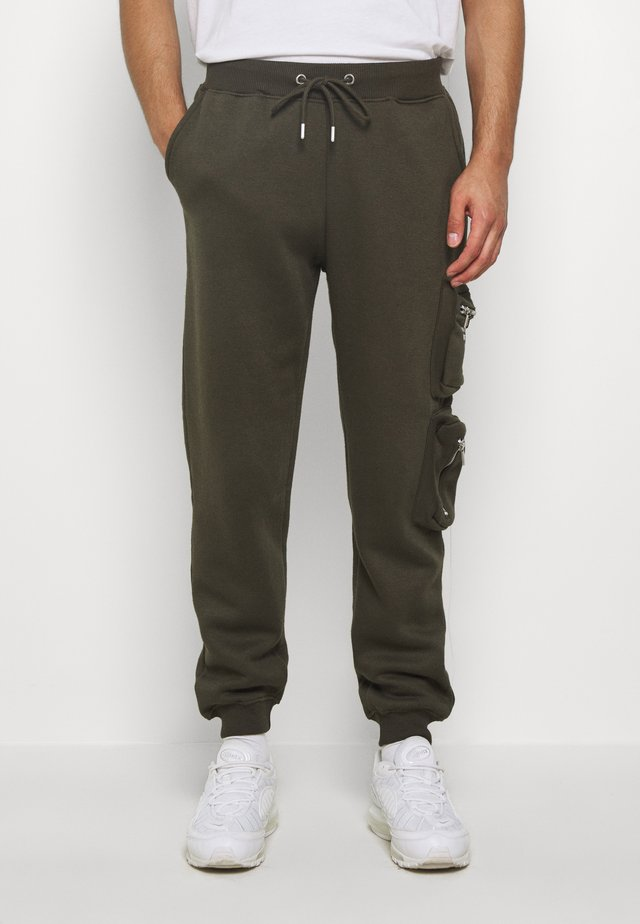 MAN OFFICIAL WITH POCKETS - Tracksuit bottoms - khaki