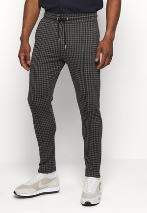 DOGTOOTH SKINNY FIT PINTUCK JOGGER TROUSER - Pantaloni - grey