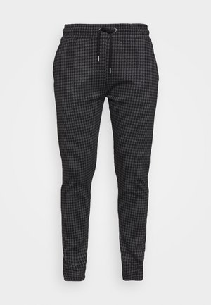 DOGTOOTH SKINNY FIT PINTUCK JOGGER TROUSER - Trousers - grey