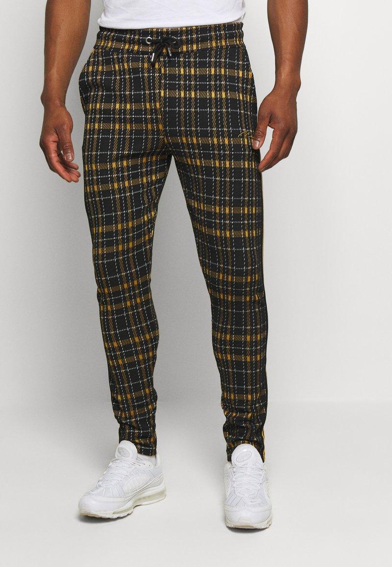 boohoo MAN - TAPE DETAIL SMART JOGGER - Pantaloni - black