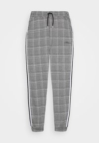 boohoo MAN - SIGNATURE CUFFED JOGGER WITH TAPE - Trousers - grey - 3
