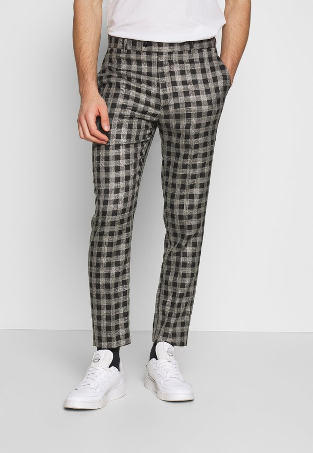 SKINNY FIT CROPPED TROUSER - Pantaloni - grey