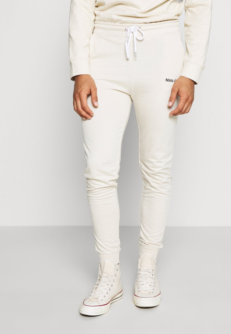 boohoo MAN - MAN OFFICIAL HEAVYWEIGHT JOGGER - Pantaloni sportivi - off white