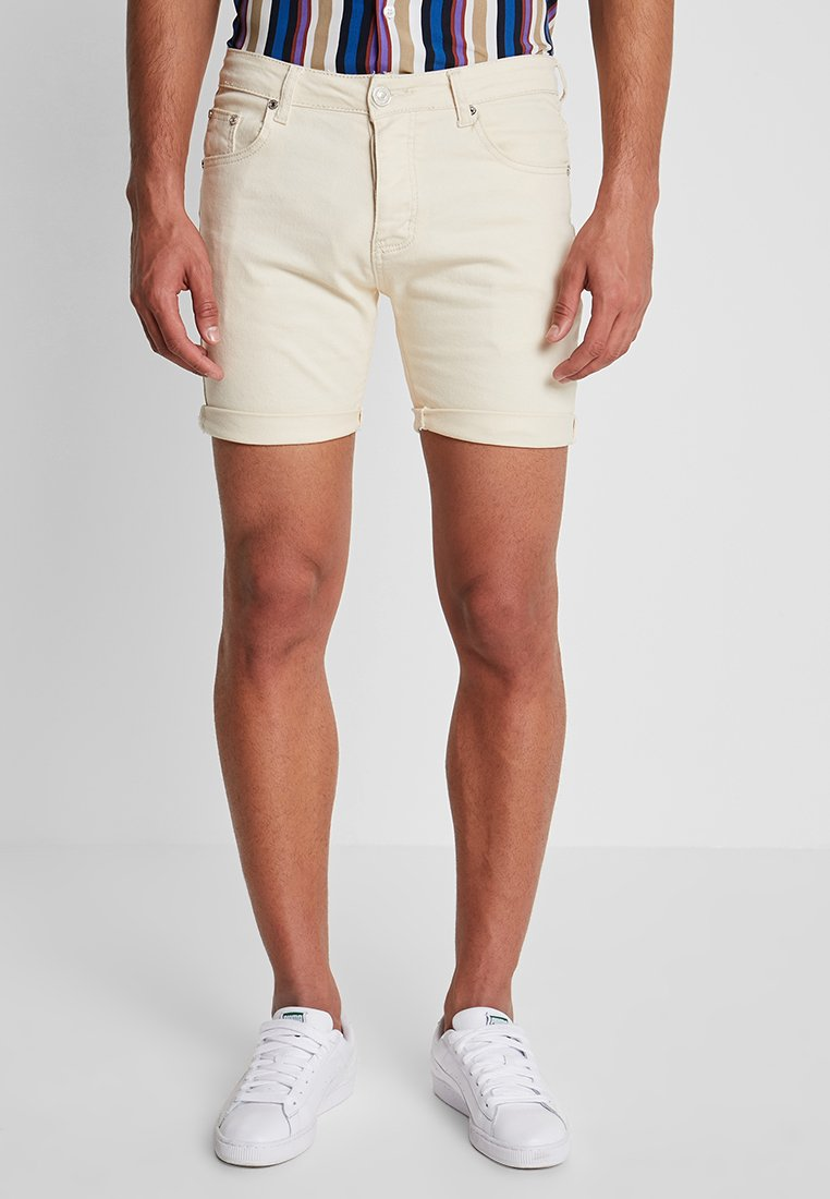 boohoo MAN - Denim shorts - ecru