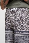 boohoo MAN - ANIMAL PAISLEY BORDER - Shorts - brown
