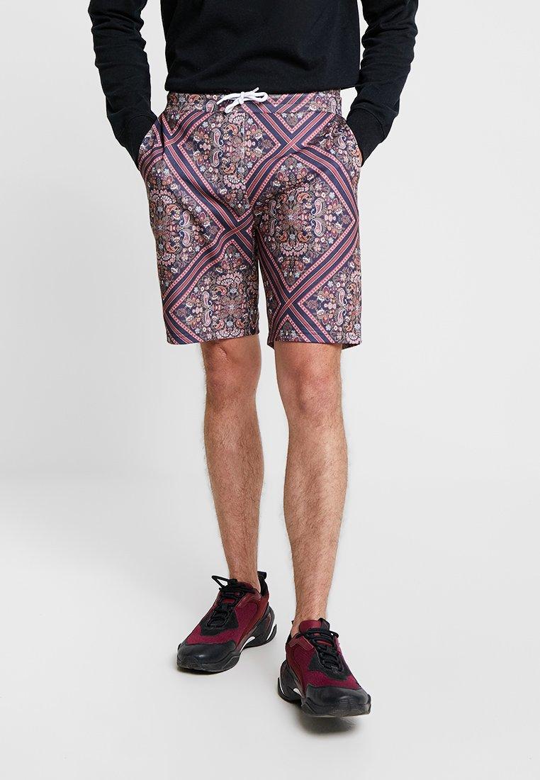 boohoo MAN - TILE  - Pantalones deportivos - blue