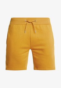 boohoo MAN - MID LENGTH WITH CONTRAST TAPE - Shorts - mustard - 3