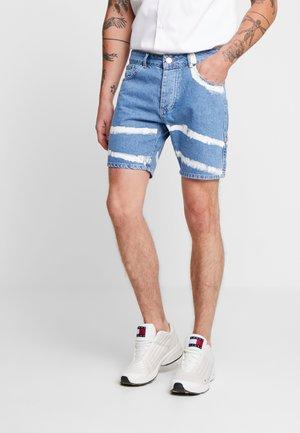 SLIM FIT CARGO DETAIL TIE DYE  - Shorts di jeans - mid blueblack