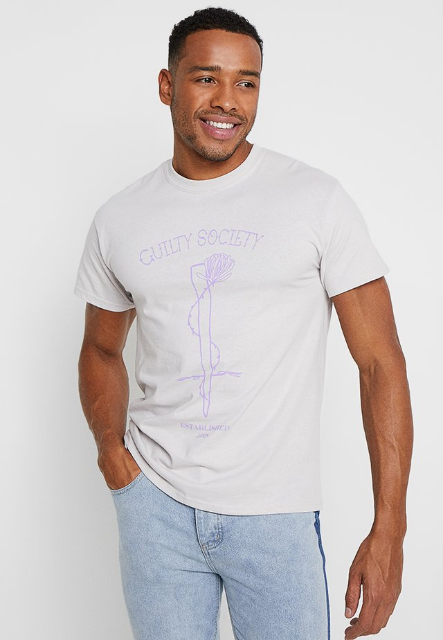 GUILTY SOCIETY - T-Shirt print - light grey