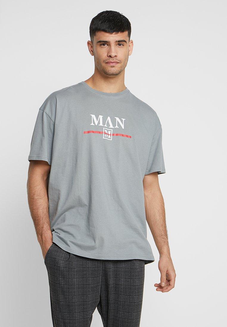 boohoo MAN - Camiseta estampada - mid grey