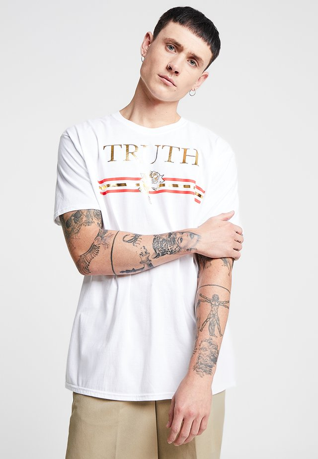 TRUTH FOIL OVERSIZED - T-Shirt print - white