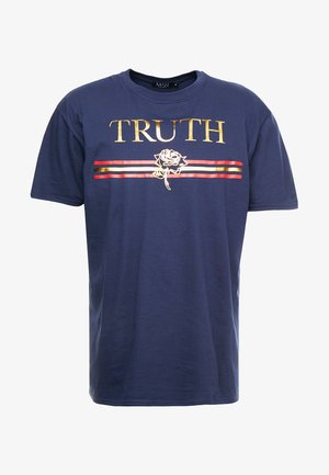 TRUTH FOIL OVERSIZED - Camiseta estampada - navy