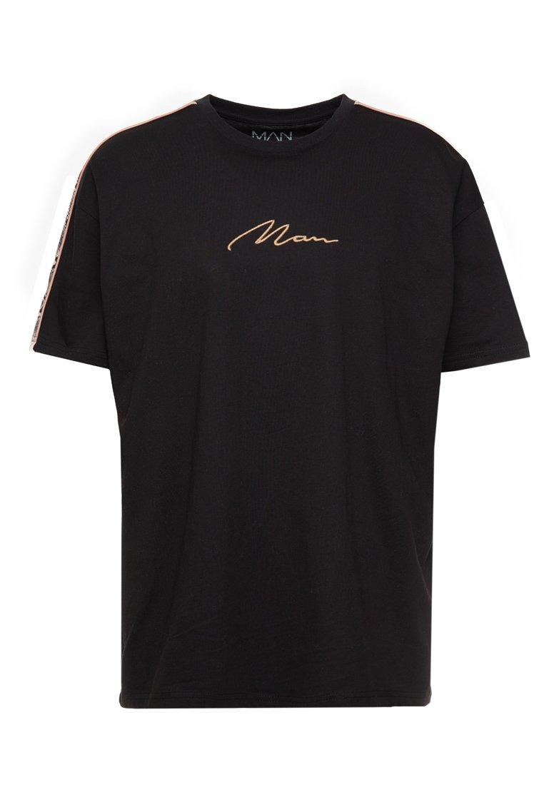 boohoo MAN - SIGNATURE SNAKE SHOULDER PANEL - T-Shirt print - black