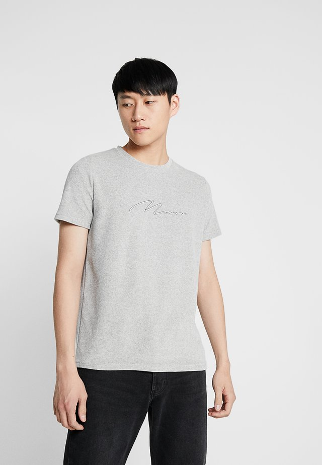 MAN SIGNATURE  - T-Shirt print - grey