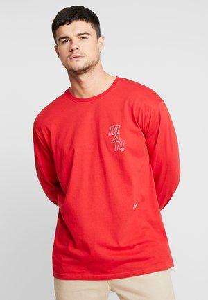 LOOSE FIT LONG SLEEVE PRINTED - Langarmshirt - red