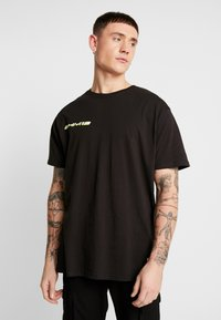 boohoo MAN - MAN LOOSE FIT TEE  - T-shirt print - black - 0