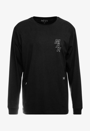 LOOSE FIT LONG SLEEVE PRINTED - Långärmad tröja - black