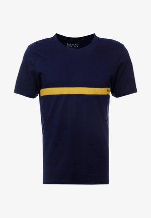 MAN SIGNATURE COLOUR BLOCK - T-shirts med print - blue