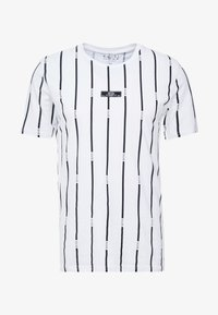 boohoo MAN - STRIPE PRINTED WITH WOVEN - T-shirt med print - white - 3