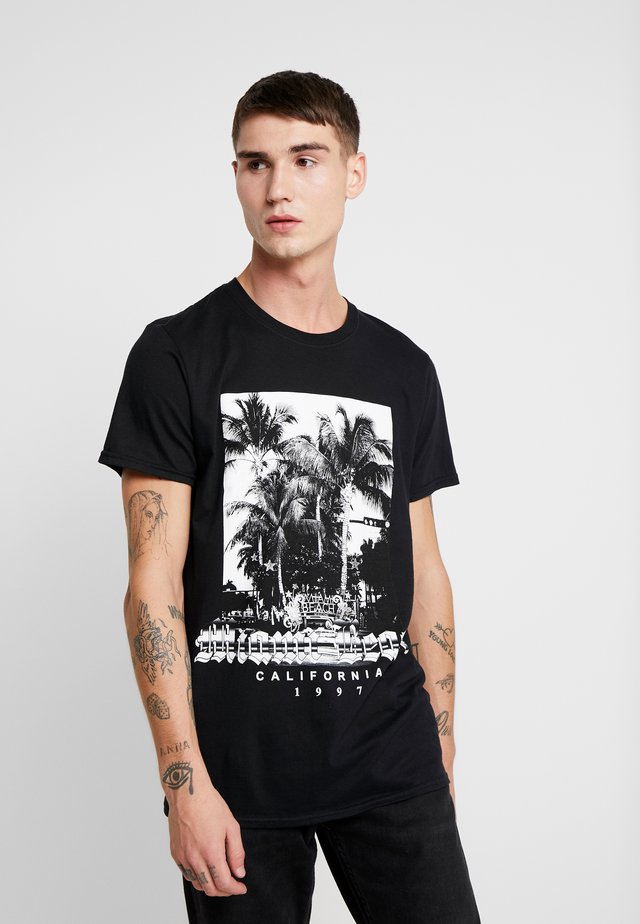 MIAMI BEACH PRINT - T-Shirt print - black