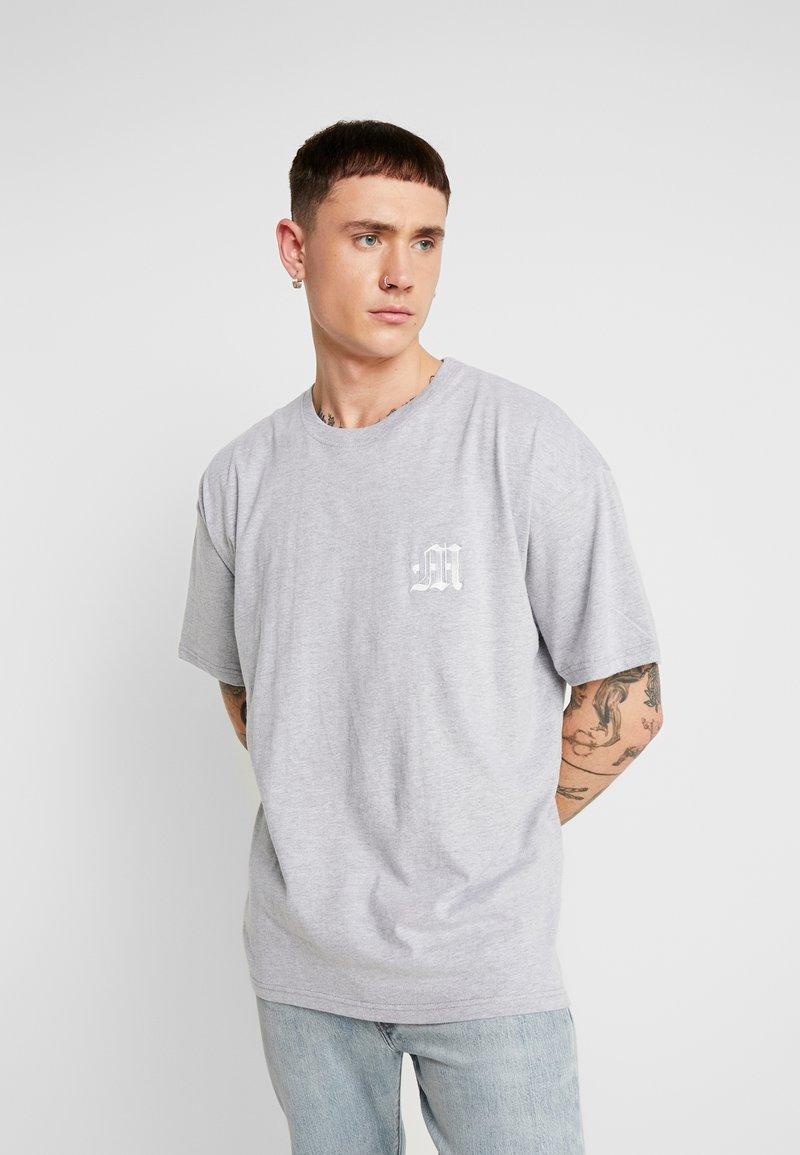 boohoo MAN - AESTHETICS OVERSIZED DROP SHOULDER - T-shirt basic - grey