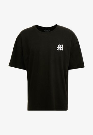AESTHETICS OVERSIZED DROP SHOULDER - Camiseta básica - black