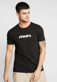 boohoo MAN - MAN SEASON  - T-shirt med print - black - 0
