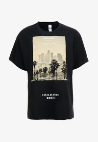 boohoo MAN - EXHILATRATION OVERSIZED - T-shirt imprimé - black - 4